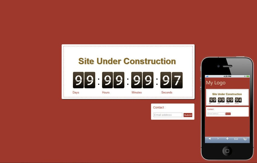 Mobile WebSite Under Construction Template