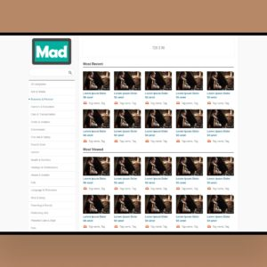 mad website template