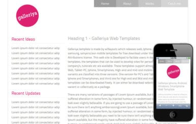 Galleriya – Free Protfolio Mobile Website Template