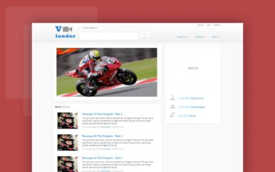 Vloader Free youtube like Mobile Website Template