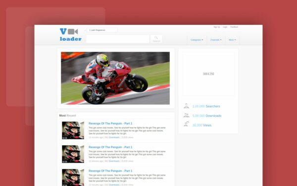 vloder website template