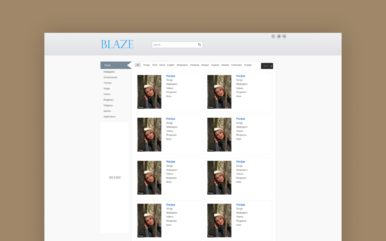 blaze website template