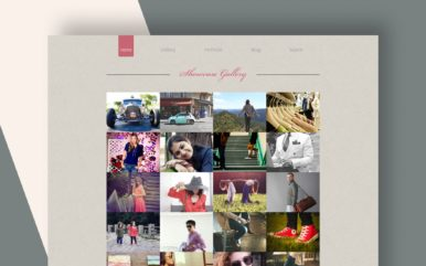 showcase gallery website template