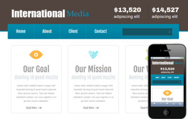 New International Media web and Mobile website template for free