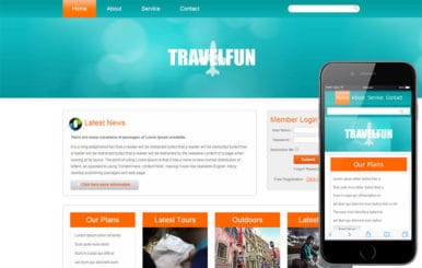 Travel Fun web and mobile website template