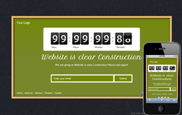 Free Wood Frame Under Construction web and mobile website template