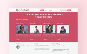 quick blog website template