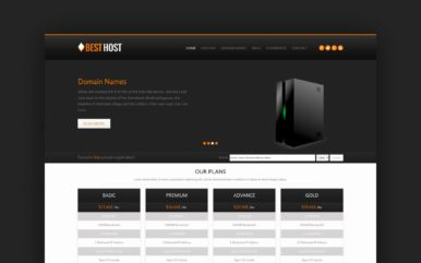 Best Host Domain sales Mobile Web Template