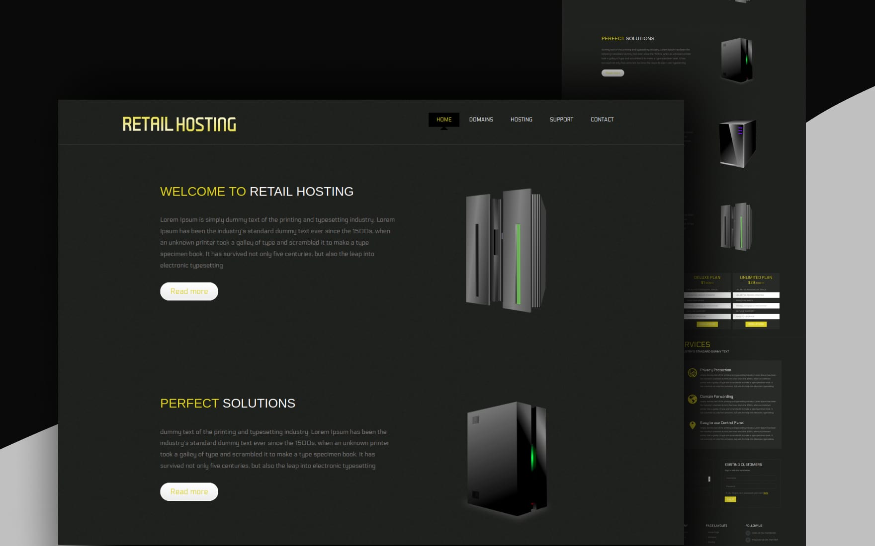 Retail Hosting Domain sales Mobile Web Template