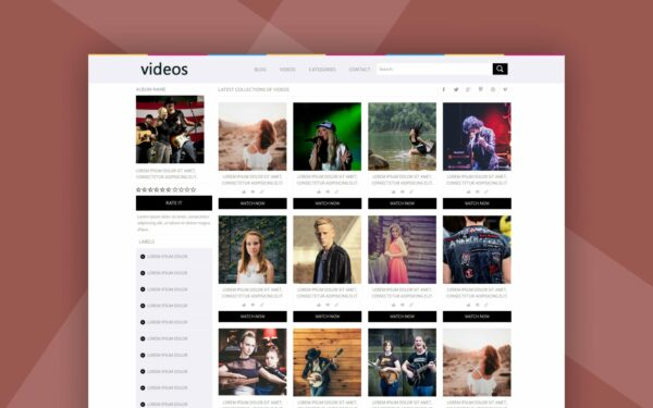 video streaming website template