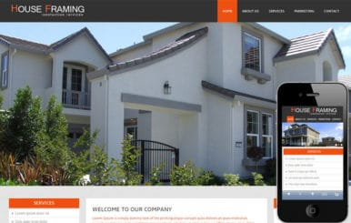 House Framing – A Real Estate Mobile Website Template