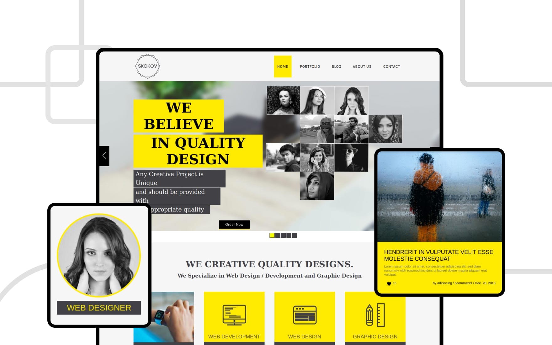 Skokov Corporate Flat Responsive web template