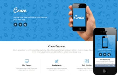 Craze Single page Responsive website template