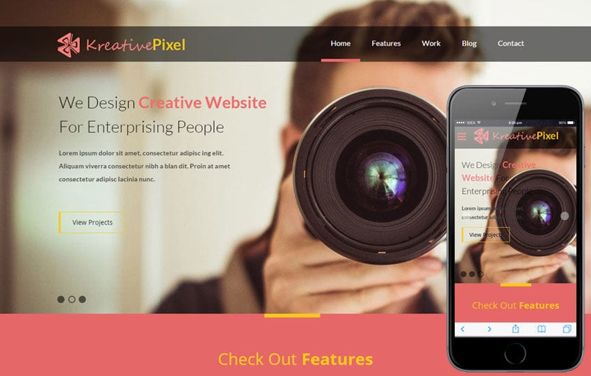 KreativePixel a Corporate Responsive web template