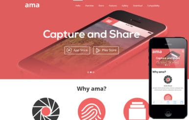 Ama a Mobile App based Flat Bootstrap Responsive web template