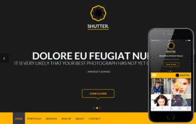 Shutter a Singlepage Portfolio Flat Bootstrap Responsive Web Template