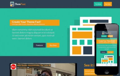 Themfast a App Based Flat Bootstrap Responsive Web Template