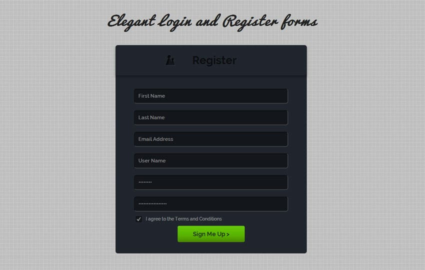 Elegant Login and Register Forms Template