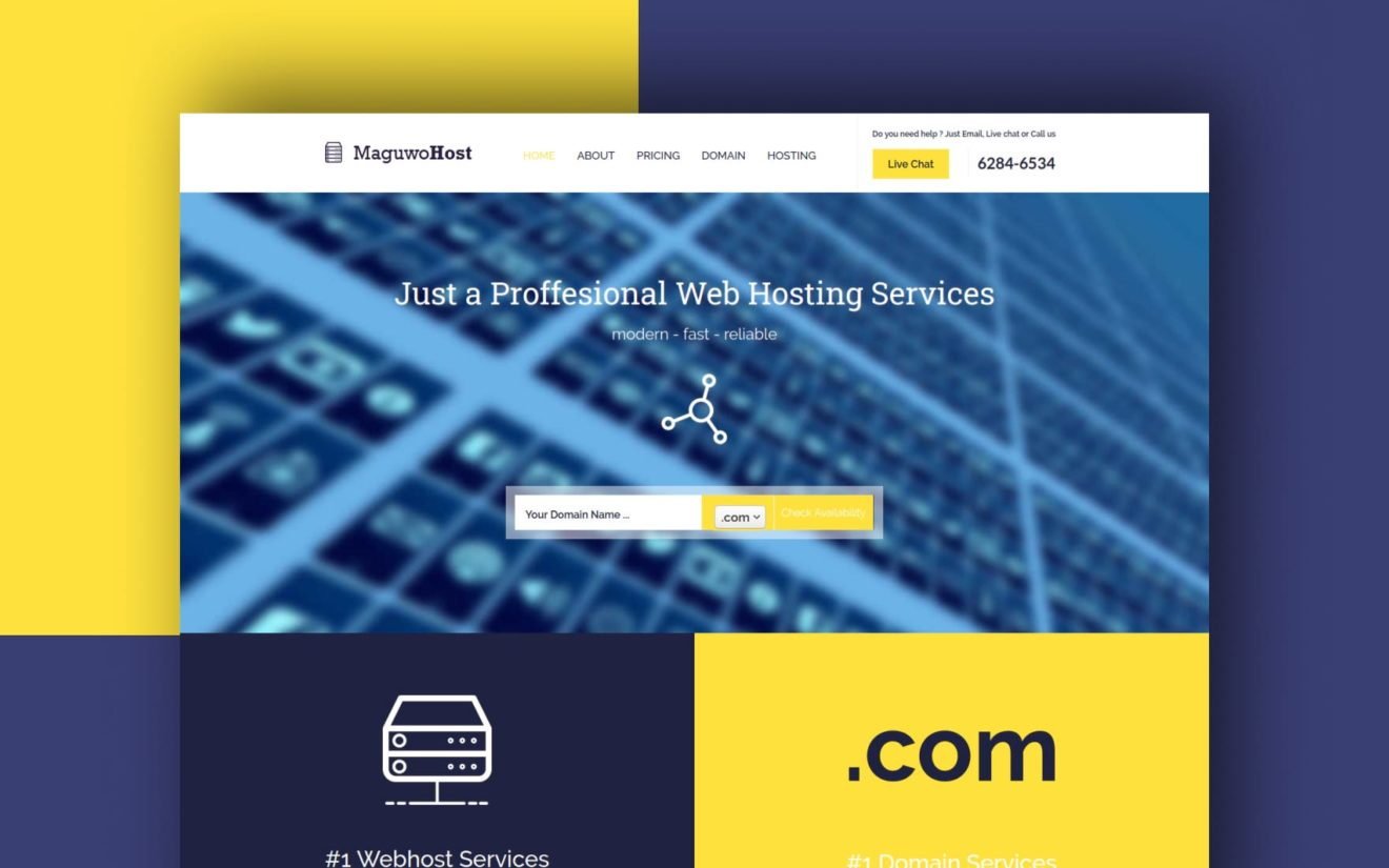 Maguwohost a Web Hosting Flat Bootstrap Responsive Web Template