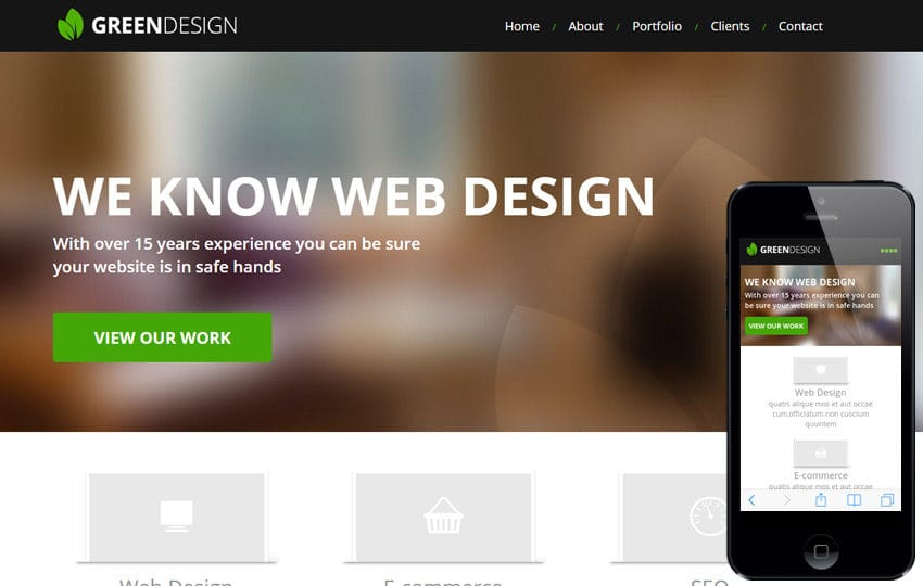 Green Design a Corporate Portfolio Flat Bootstrap Responsive web template