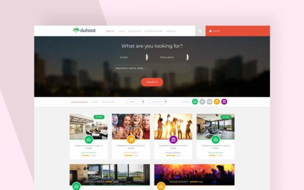 duhoot website template