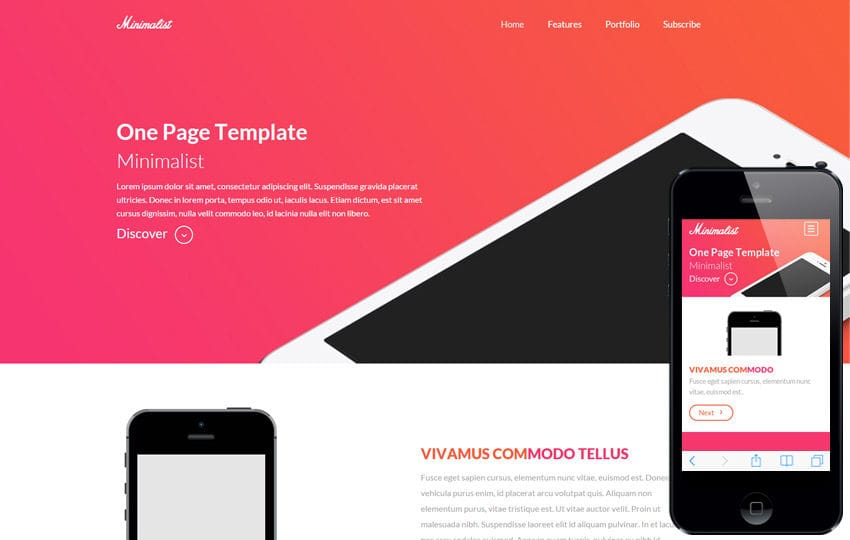 Minimalist a onepage Multipurpose Flat Bootstrap Responsive web template