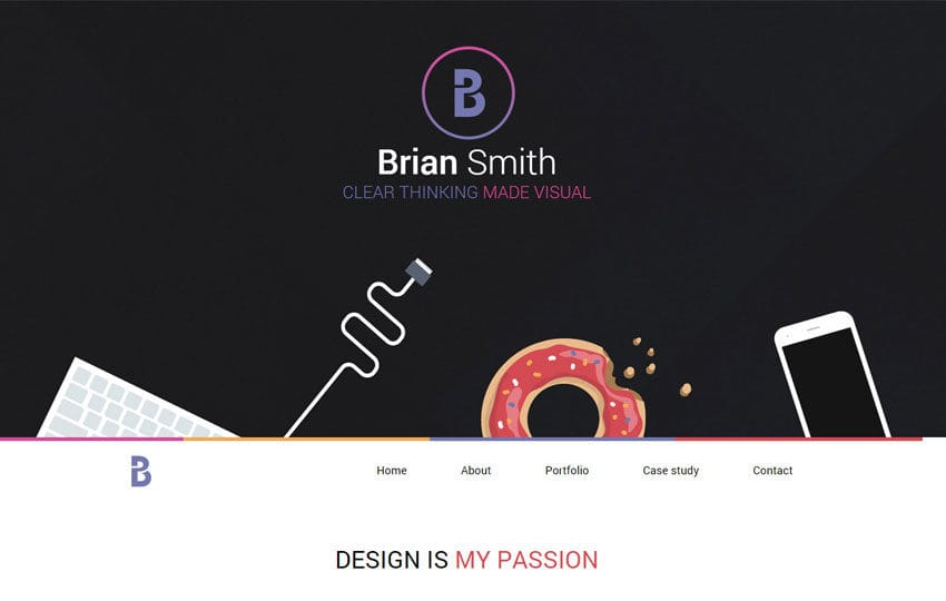 Brian a Onepage Portfolio Flat Bootstrap Responsive Web Template