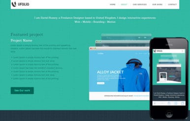 Ufolio a Onepage Portfolio Flat Bootstrap Responsive Web Template