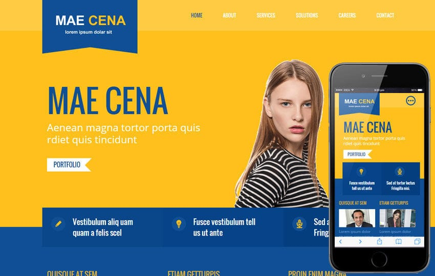 Mae Cena Corporate Multipurpose Flat Bootstrap Responsive Web Template