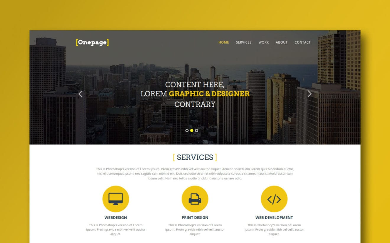 One Page a Personal Portfolios Flat Bootstrap Responsive Web Template