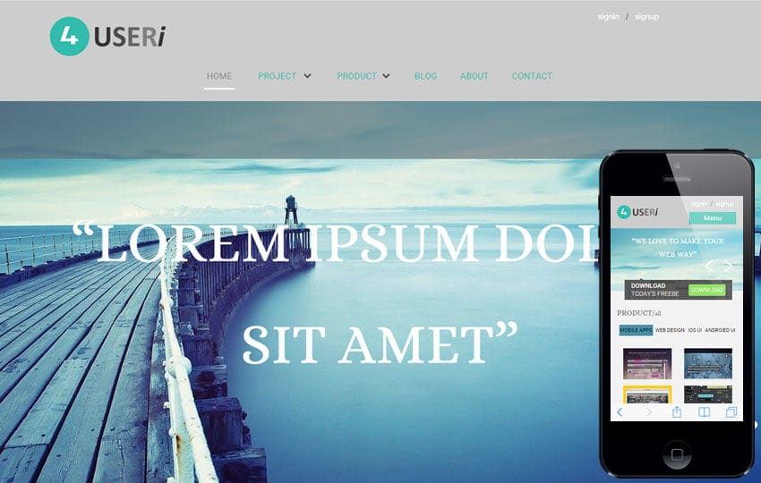 4Useri corporate business website template