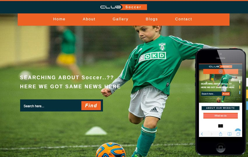 Club Soccer a Sports Category Flat Bootstrap Responsive Web Template