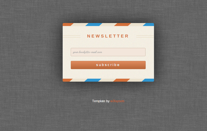 Rebounded Newsletter Signup Form Template