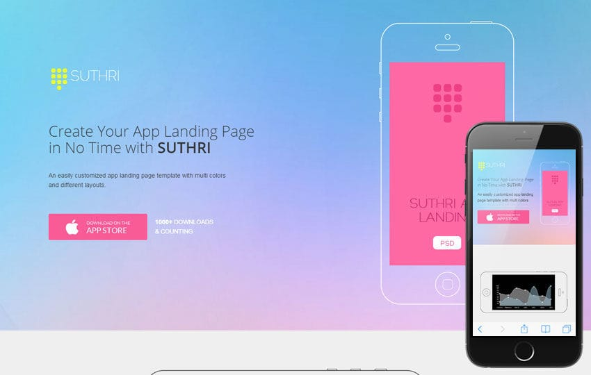 Suthri a Mobile App based Flat Bootstrap Responsive Web Template