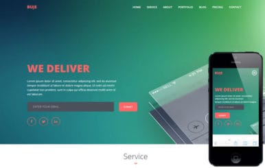 Buje a Mobile App based Flat Bootstrap Responsive Web Template