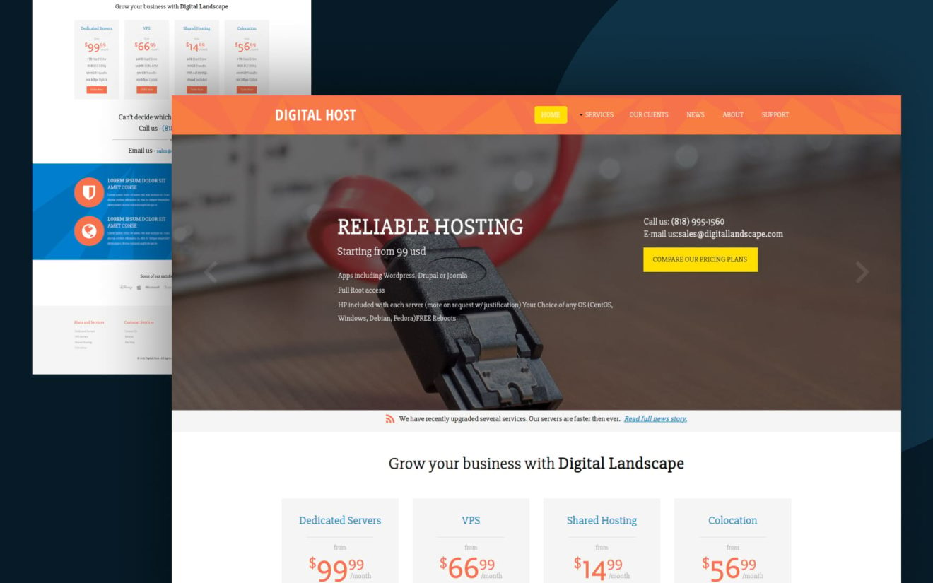 Digital Hosting a Web Hosting Flat Bootstrap Responsive Web Template