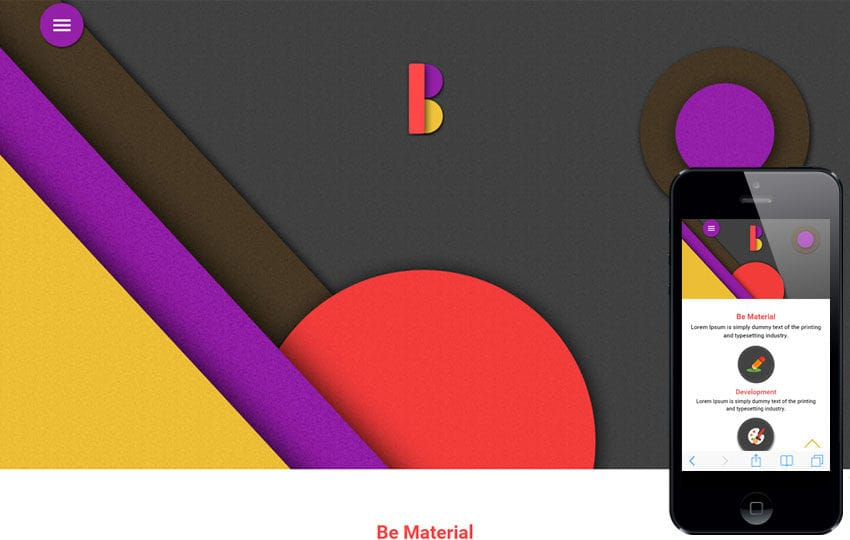 Be Material a Corporate Portfolio Flat Bootstrap Responsive Web Template