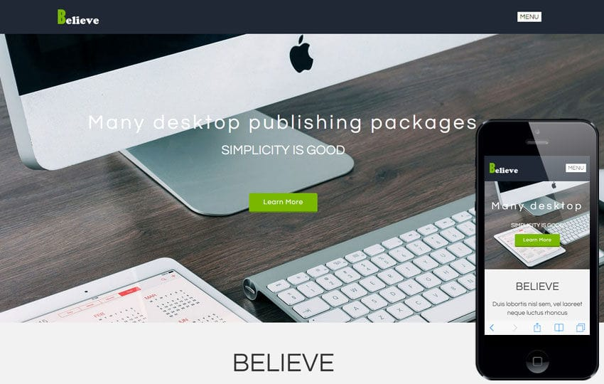 Believe a Corporate Portfolio Flat Bootstrap Responsive Web Template