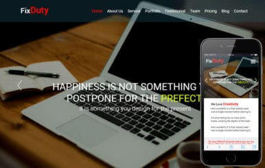 Fixduty a Corporate Business Flat Responsive Web Template