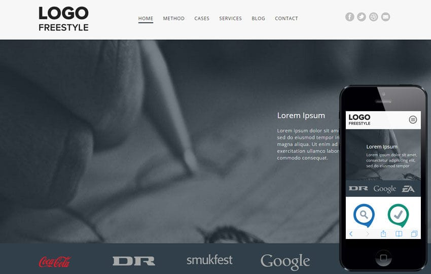 Free Style a landingpage Multipurpose Flat Bootstrap Responsive Web Template