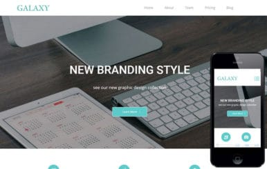Galaxy a Corporate Multipurpose Flat Bootstrap Responsive Web Template
