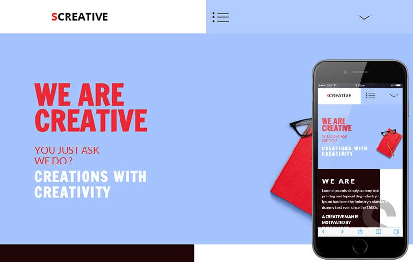 SCreative a Corporate Business Flat Responsive Web Template