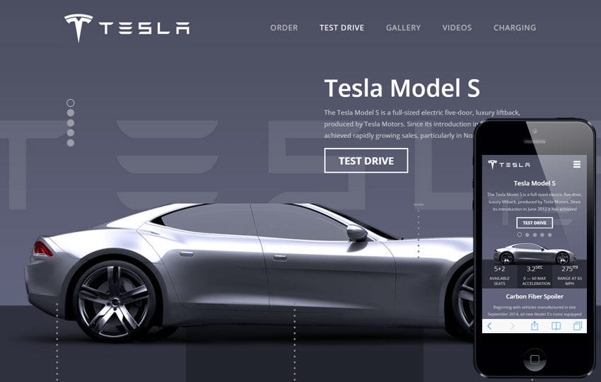 Tesla a Auto Mobile Category Flat Bootstrap Responsive Web Template