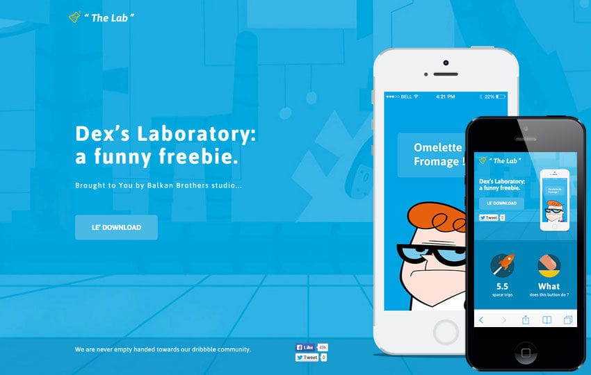 The Lab a Mobile App Landing Flat Bootstrap Responsive Web Template
