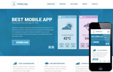 Weather a Mobile App based Flat Bootstrap Responsive Web Template