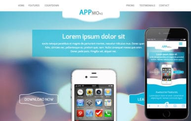 Appmo V2 a Mobile App based Flat Bootstrap Responsive Web Template