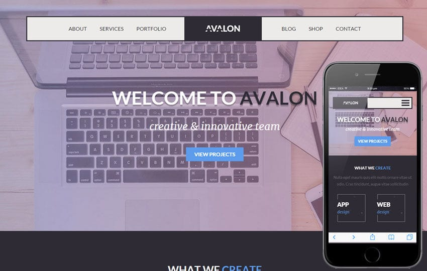 Avalon a Corporate Portfolio Flat Bootstrap Responsive Web Template