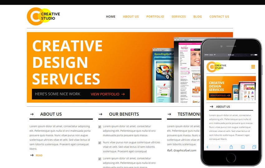 Creative Studio a Corporate Business Flat Bootstrap Responsive Web Template