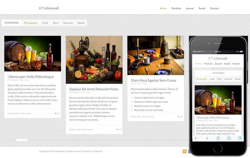 Kitchen Wall a Food Category Flat Bootstrap Responsive Web Template