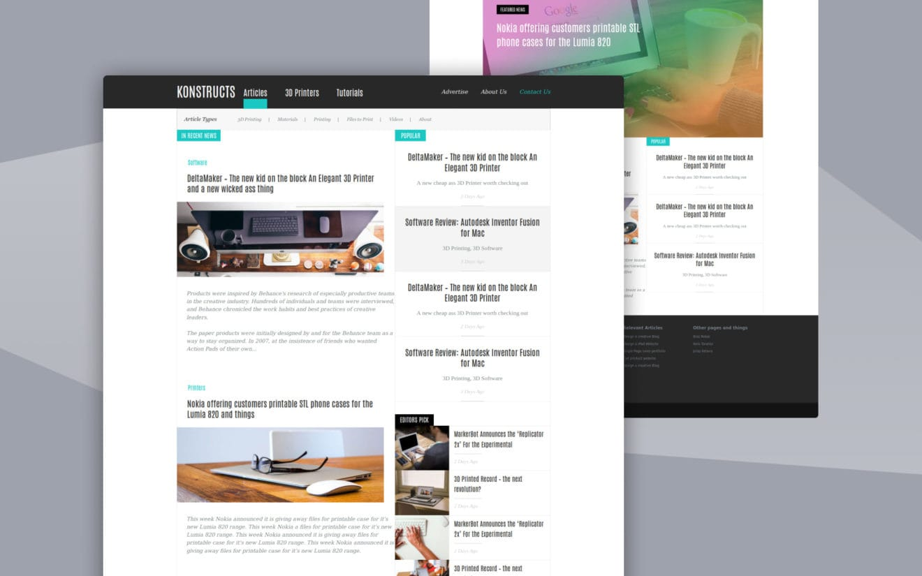 Konstructs a Blogging Category Flat Bootstrap Responsive Web Template